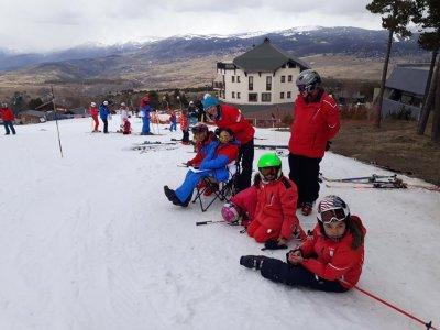6 horas de clases de esquí para grupos en Porté
