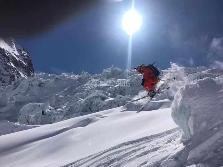 Modalidad extrema de esqui