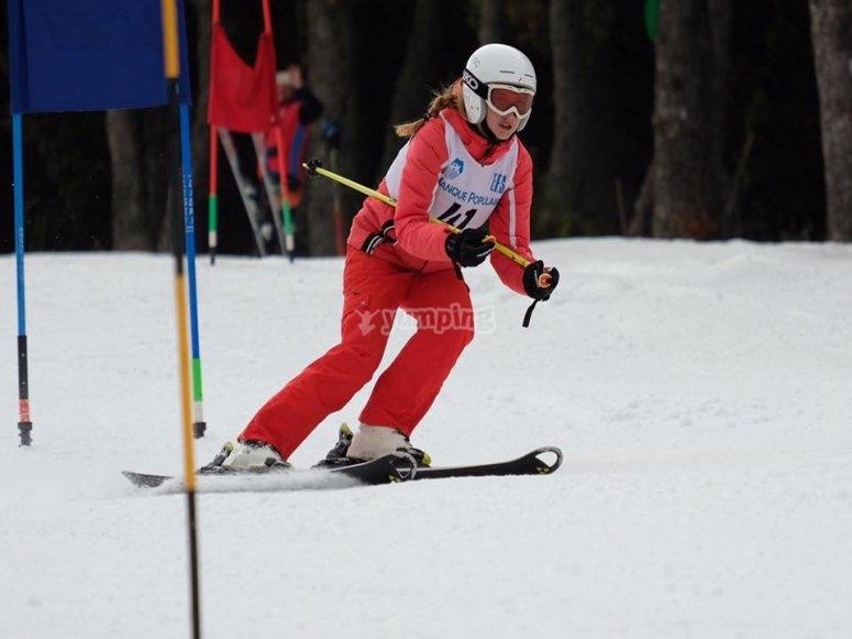 Pon a prueba tus limites esquiando