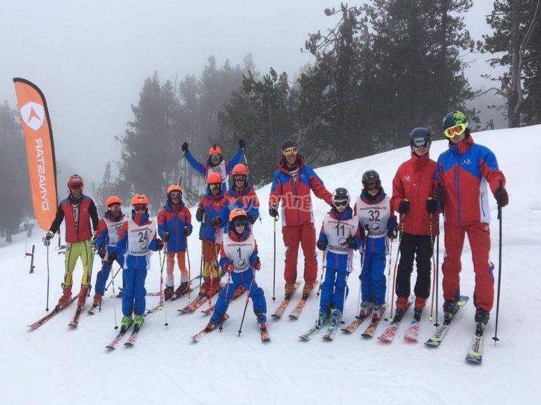 Group ski courses