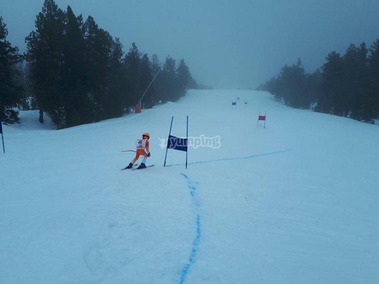 Esquia今年圣诞节在Porte