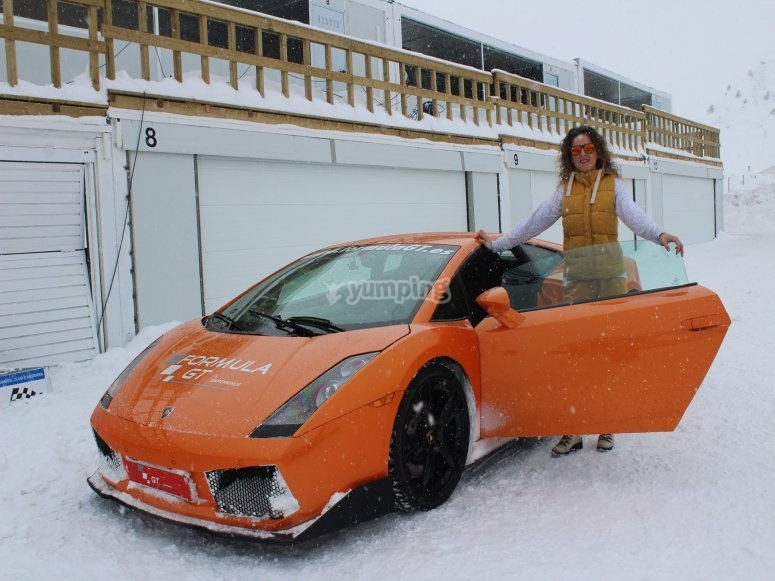Next to the Ferrari in the snow
