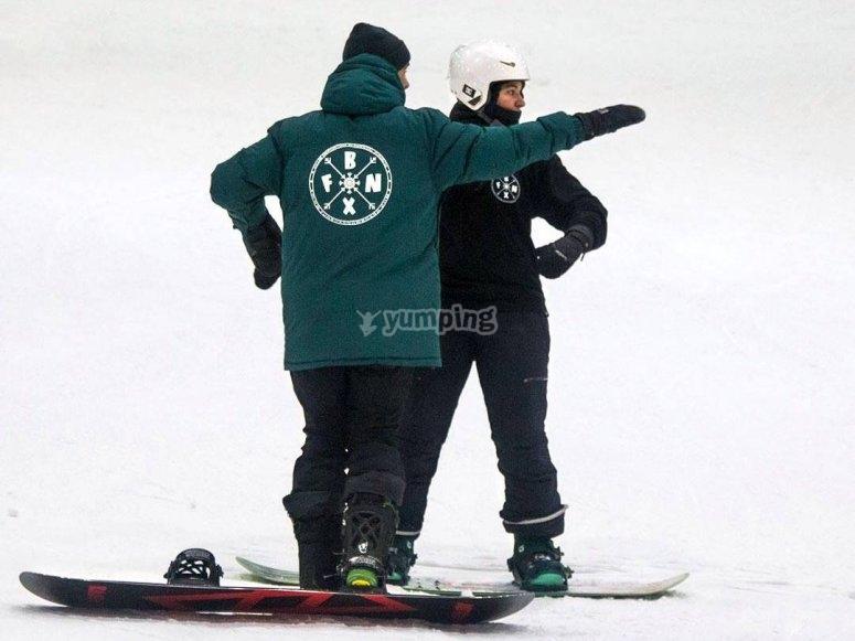 滑雪板在车手