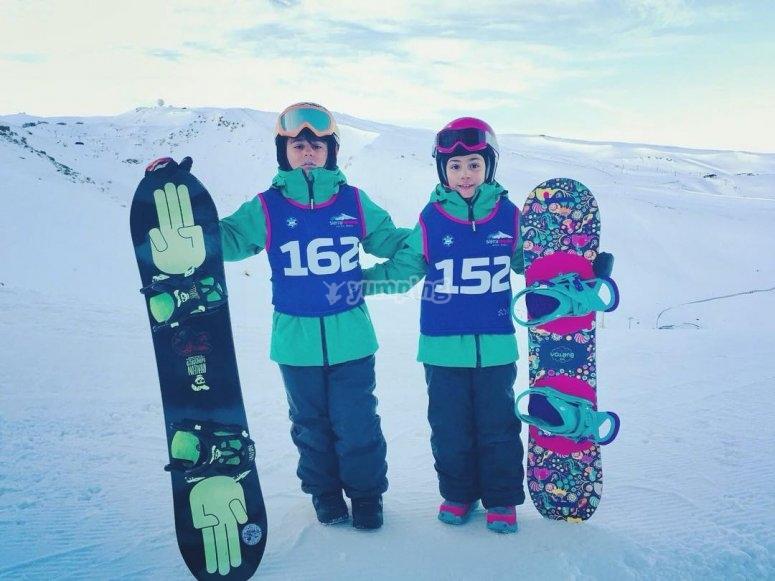 单板滑雪比赛水平Pequenos车手
