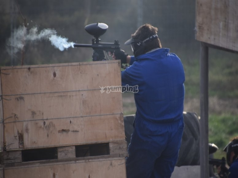 Shooting after the parapet