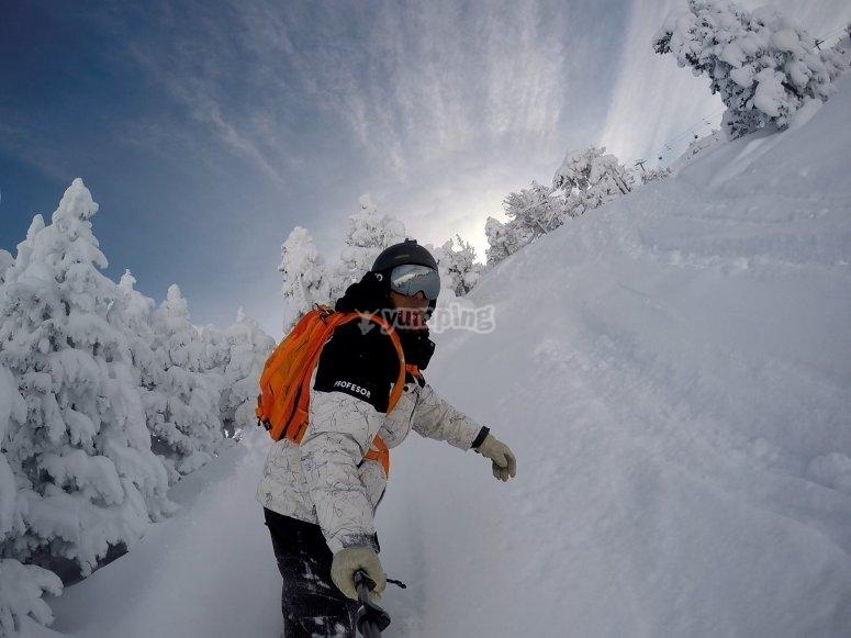 专业滑雪板运动