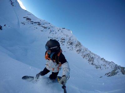 在Baqueira学习滑雪板,1小时
