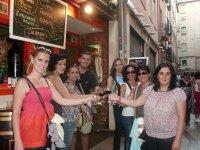 Disfrutando del vino de La Rioja