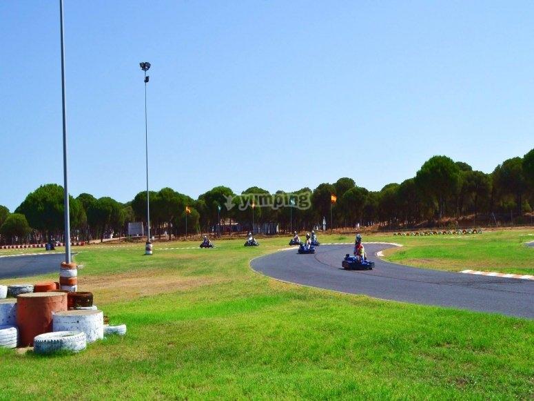Circuito para ninos en Huelva