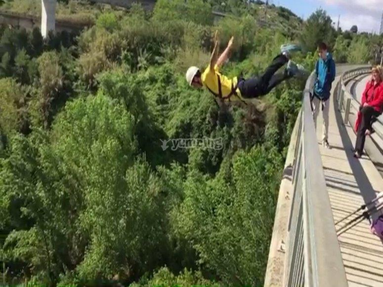 Captura del primer  momento del salto