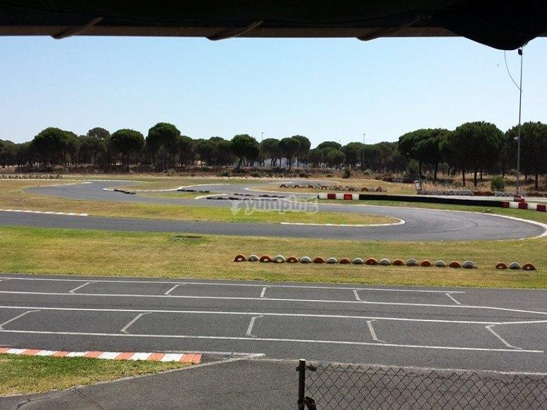 Nuestras terrazas con vistas al circuito