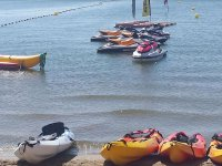 Our canoes ready to sail