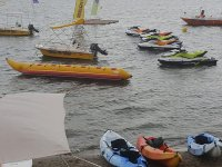 Preparando todo para navegar en canoa por el Mar Menor