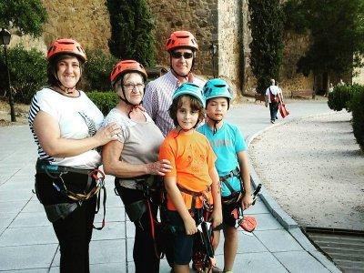 Tirolina en Puente de San Martín niños 2 saltos