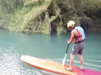 Crossing of sup in river