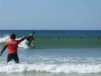 Disfrutando de una tarde de surf