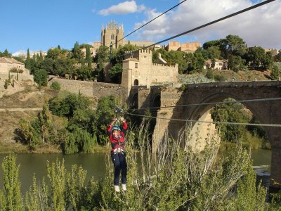 Tirolina para colegios en Toledo ciudad 180 metros