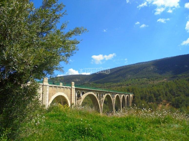 Viaducto en Alcoy para hacer puenting