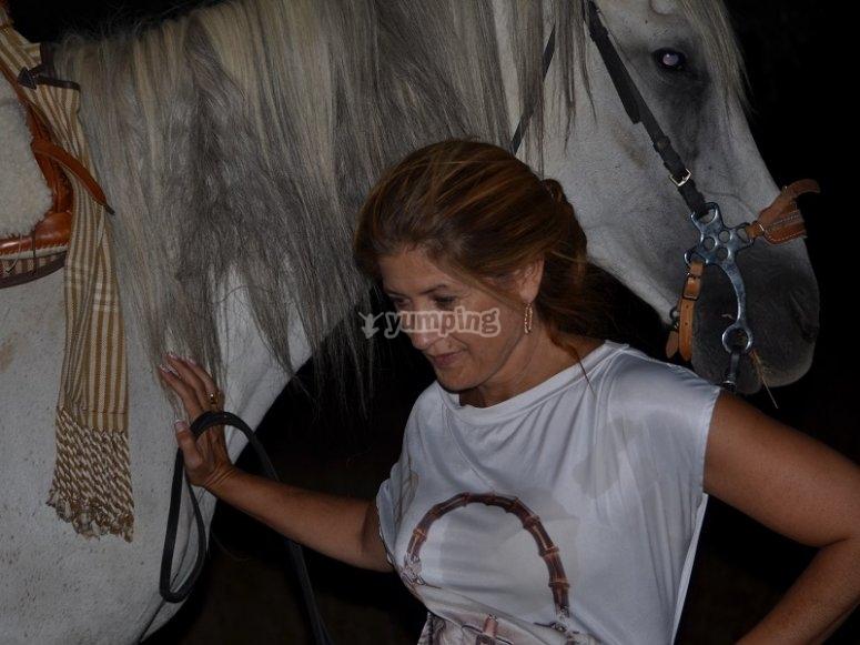 Montar a caballo de noche