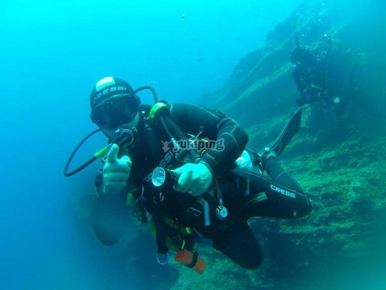 在穆尔西亚(Murcia)学习潜水