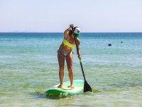 Practicando paddle surf
