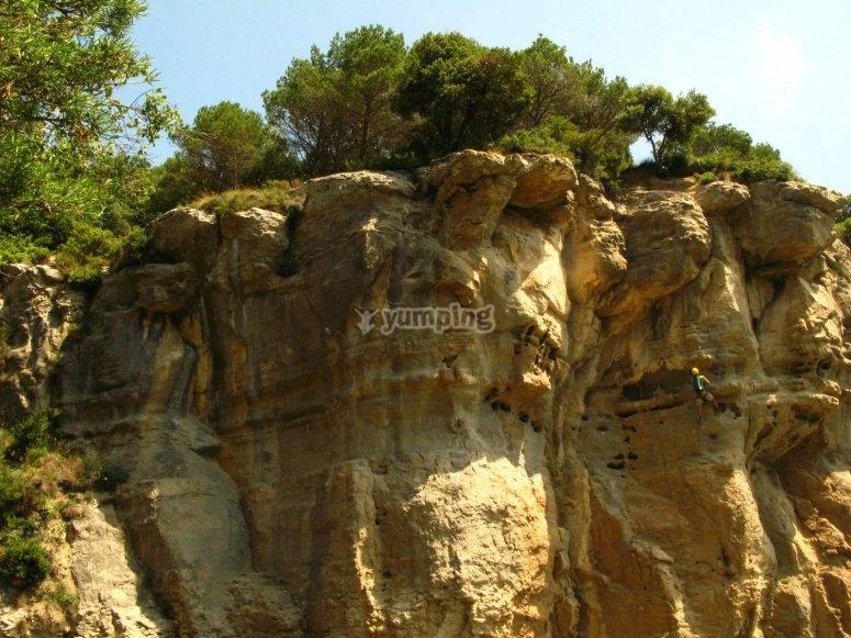难以置信的岩石上升
