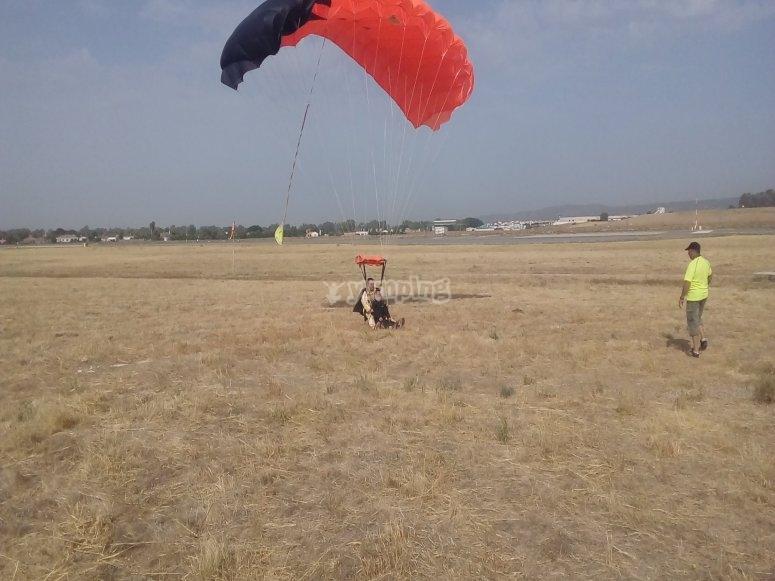 Aterrizando en tierra