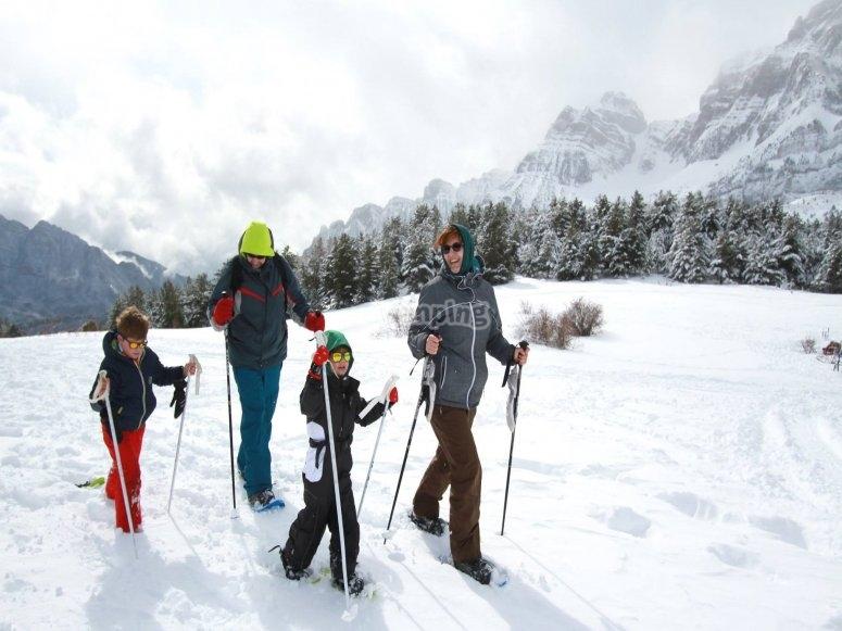 Ruta raquetas de nieve