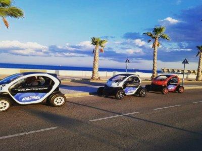 Ruta en coche eléctrico por Málaga centro 90 min