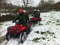 quads in the snow