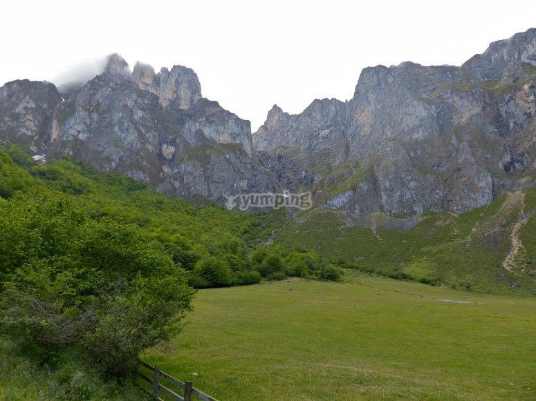 Valle en los Picos de Europa