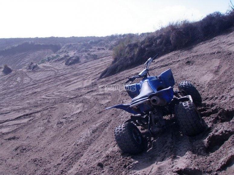En quad por la playa de Cantabria