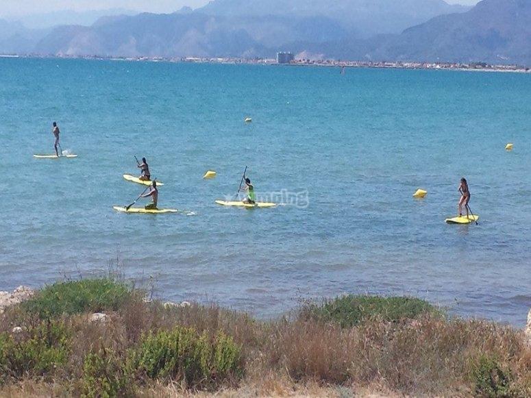 Mañana de paddle surf con ammigos