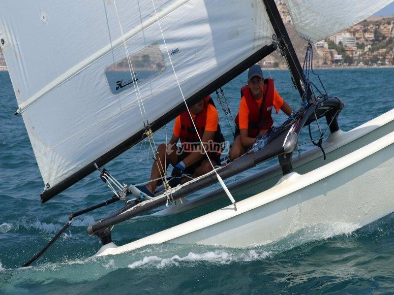 Salida en velero por el Mediterráeno