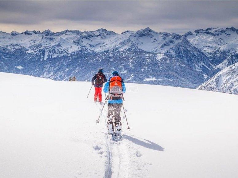 Mountain ski in Baqueira