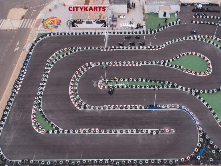 Organizzazione della pista di kart