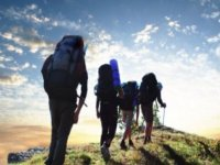 四个人走过自然