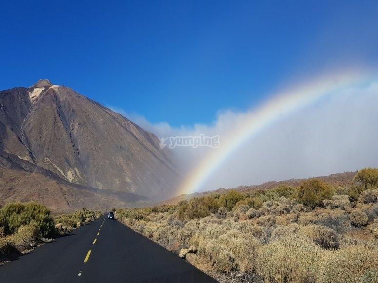 Teide y arcoiris
