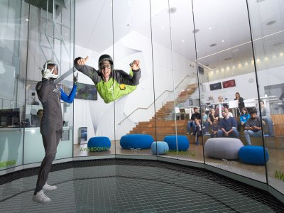 Special indoor skydiving ride for two in Madrid