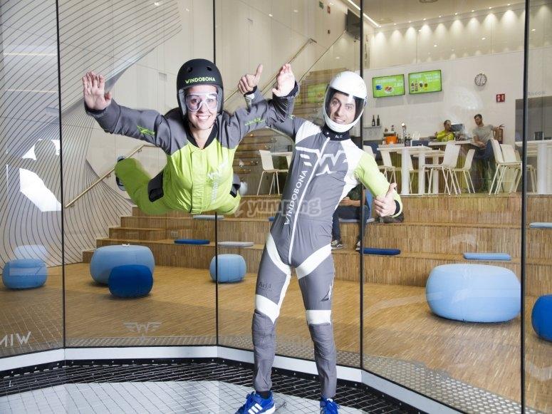 Ayudando a volar en el tunel de Madrid