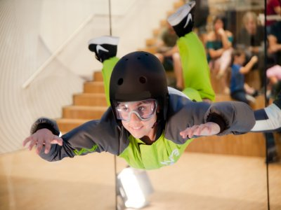 Indoor skydive ride children wind tunnel Madrid