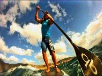 Paddle surf en Caleta de Famara
