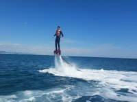 Vertical rise of flyboard