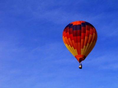 在SierradeAlbarracín夫妇的气球飞行
