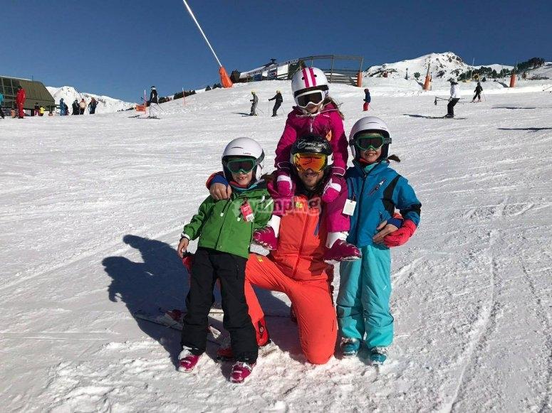 Con el profe de ski