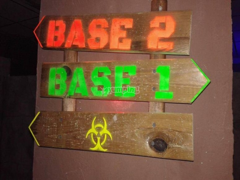 Labirinto radioattivo per laser tag