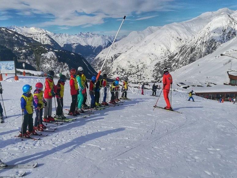 Prueba de nivel en la estacion de esqui