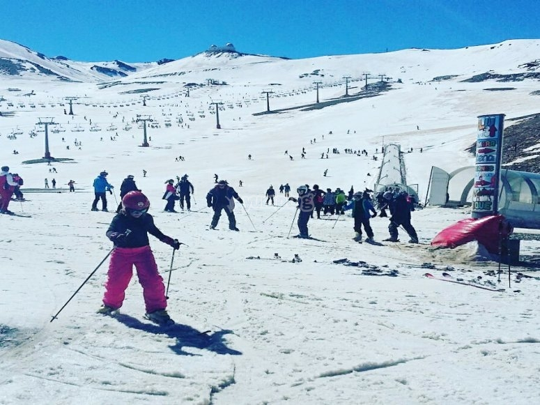 Esquiando en Granada