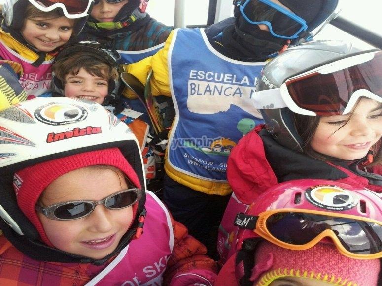 Diversion esquiando