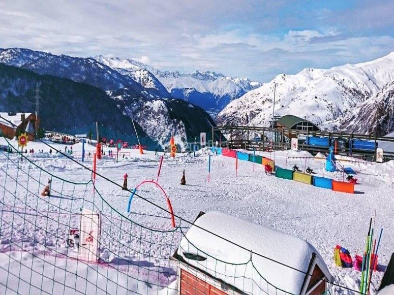 Todo listo para esquiar